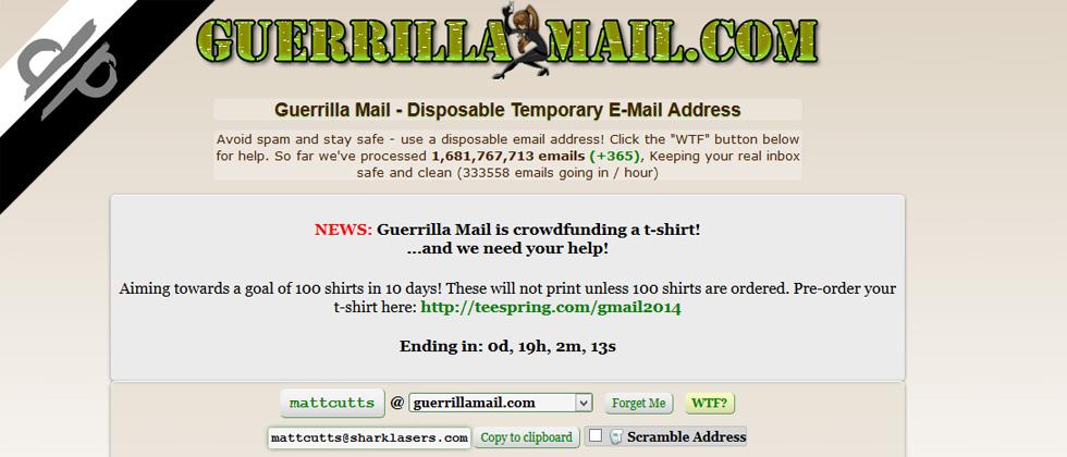 GuerrillaMail: un'email temporanea per inviare e ricevere