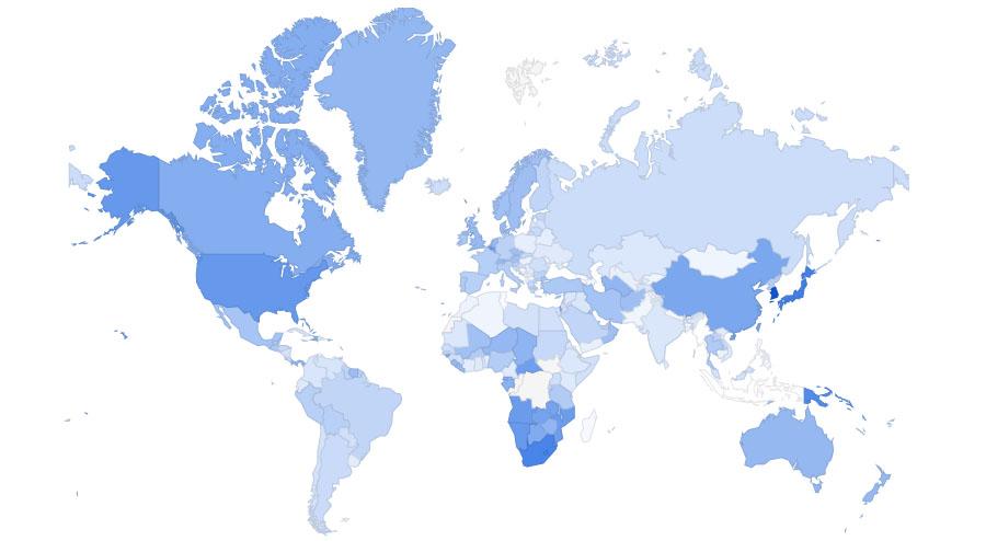 uso di internet explorer nel mondo