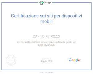Certificazione partner google esame siti per dispositivi mobili